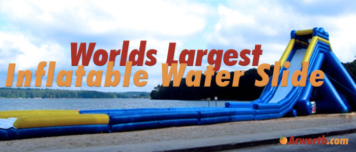 Worlds Largest Inflatable Water Slide